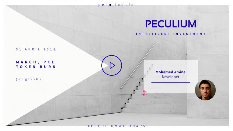 PECULIUM Planned decrease in supply PCL #Tokenburn